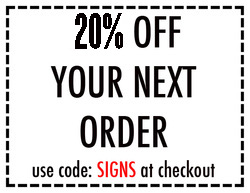 SIGN COMPANY COUPON